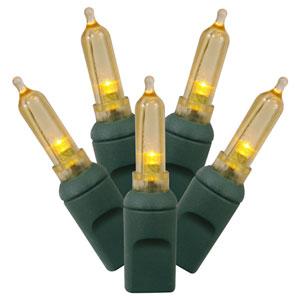 Yellow LED Italian Light Set with 50 Lights