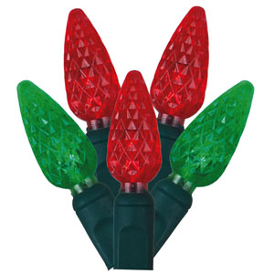 Red and Green LED Light Set with 50 Lights