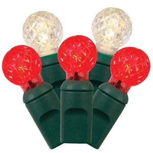 50 Light LED Red String Light Set
