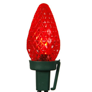 Red LED C7 Light 25 LEDs Light Set