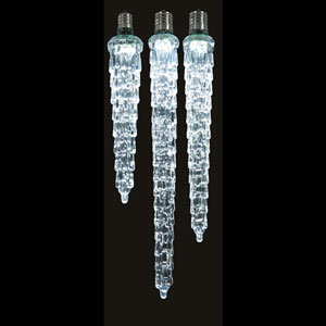 Cool White LED Icicle 9-inch
