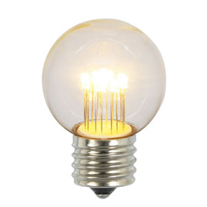 G50 LED Warm White E26 Glass Bulb, Set of Five