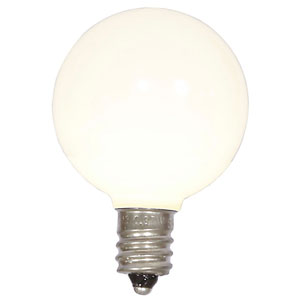 G40 Warm White Ceramic LED Bulbs, Set of Five