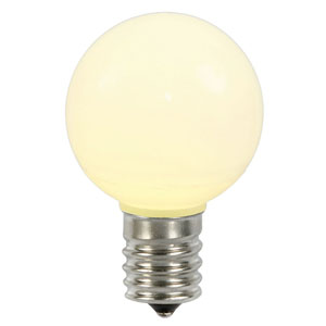 G50 Warm White Ceramic LED Bulbs, Set of Five