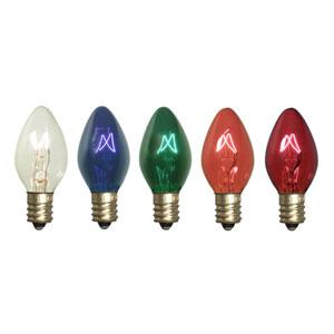 Multi-Color C7 Faceted LED Bulb .96W 130V