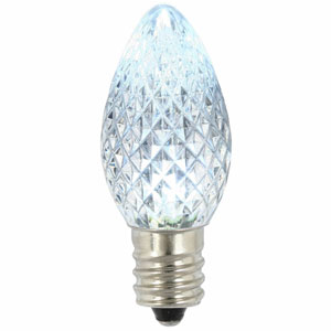 Cool White C7 Faceted LED Bulb .96W