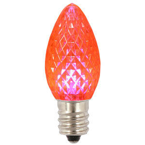 Pink C7 Faceted LED Bulb .96W