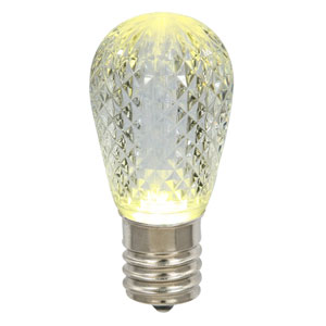 Warm White 11S14 Faceted LED Lamp E26