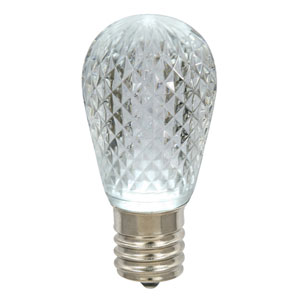 Pure White 11S14 Faceted LED Lamp E26
