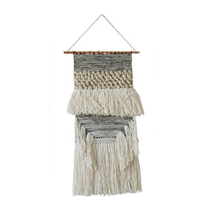 Wool and Cotton Hand-Woven Wall Hanging