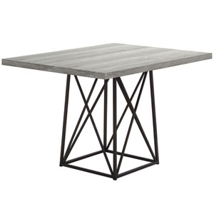 Gray 36-Inch Dining Table