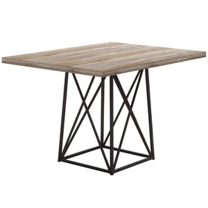 Taupe 36-Inch Dining Table