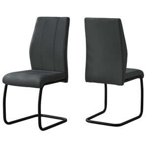 Dark Gray 39-Inch Dining Chair, 2 Pieces