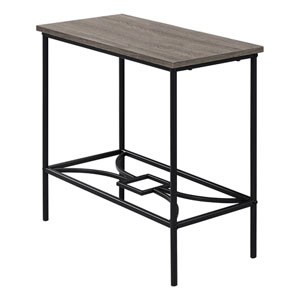 Dark Taupe and Black Accent Table