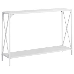 White 12-Inch X Crossbar Console Table