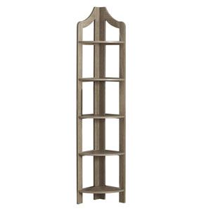 Dark Taupe 12-Inch Bookcase