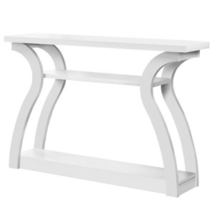 White 12-Inch Console Table