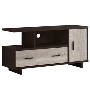 Cappuccino and Taupe 47-Inch TV Stand