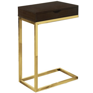 Gold 10-Inch Accent Table