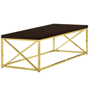 Cappucino and Gold 22-Inch Coffee Table
