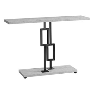 Gray and Black 12-Inch Accent Table