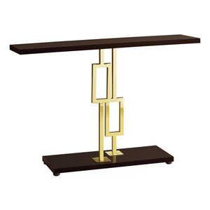 Cappuccino and Gold 12-Inch Accent Table