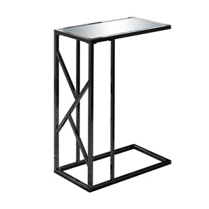 Black 18-Inch Accent Table