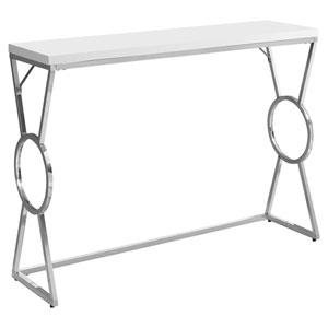 Glossy White 12-Inch Accent Table