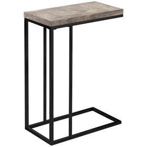 Taupe and Black 18-Inch Accent Table