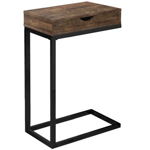 Brown and Black 10-Inch Accent Table