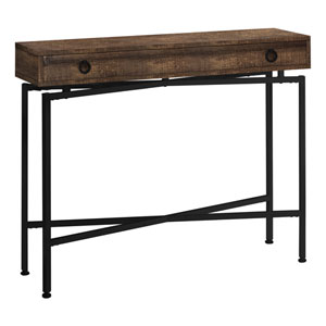 Brown and Black 12-Inch Console Table