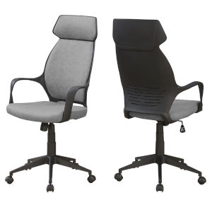 Gray 46-Inch High Back Executive Office Chair