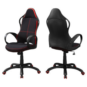 Black and Red 46-Inch Multi Position Office Chair