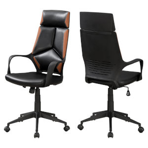 Black and Brown 46-Inch Executive Office Chair