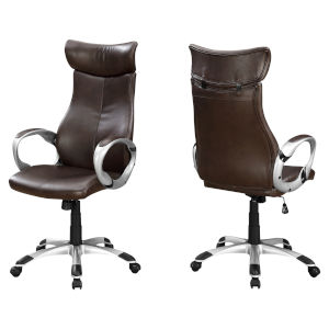 Brown 48-Inch High Back Executive Office Chair