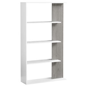 White and Gray Nine-Inch Bookcase