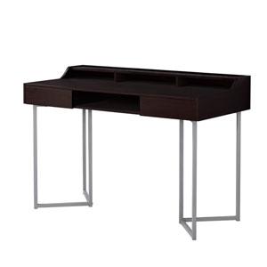 Cappuccino and Silver 22-Inch Computer Desk
