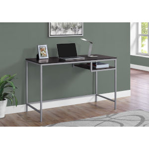 Cappucino and Silver 22-Inch Computer Desk with Open Shelf