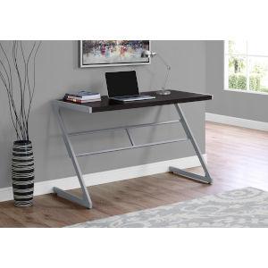 Cappucino and Silver 22-Inch Computer Desk