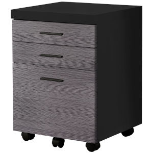 Black and Gray 18-Inch Filing Cabinet