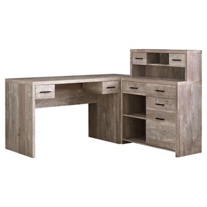 Taupe 59-Inch Computer Desk