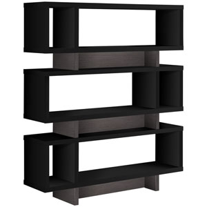 Black and Gray 12-Inch Bookcase