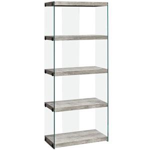 Gray 12-Inch Bookcase