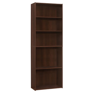Cherry 25-Inch Five Shelves Bookcase