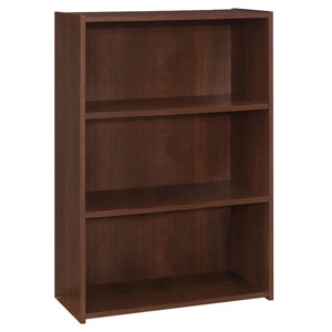 Cherry 25-Inch Three Shelves Bookcase
