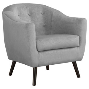 Gray 32-Inch Mosaic Velvet Accent Chair