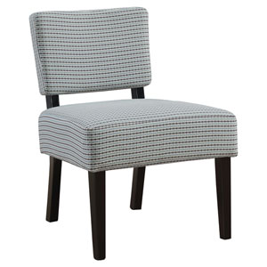 Light Blue and Gray 32-Inch Abstract Dot Fabric Accent Chair