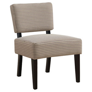 Light Brown 32-Inch Abstract Dot Fabric Accent Chair