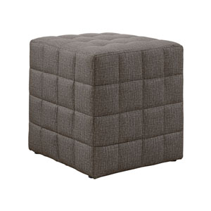 Light Brown 17-Inch Ottoman