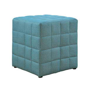 Light Blue 17-Inch Ottoman